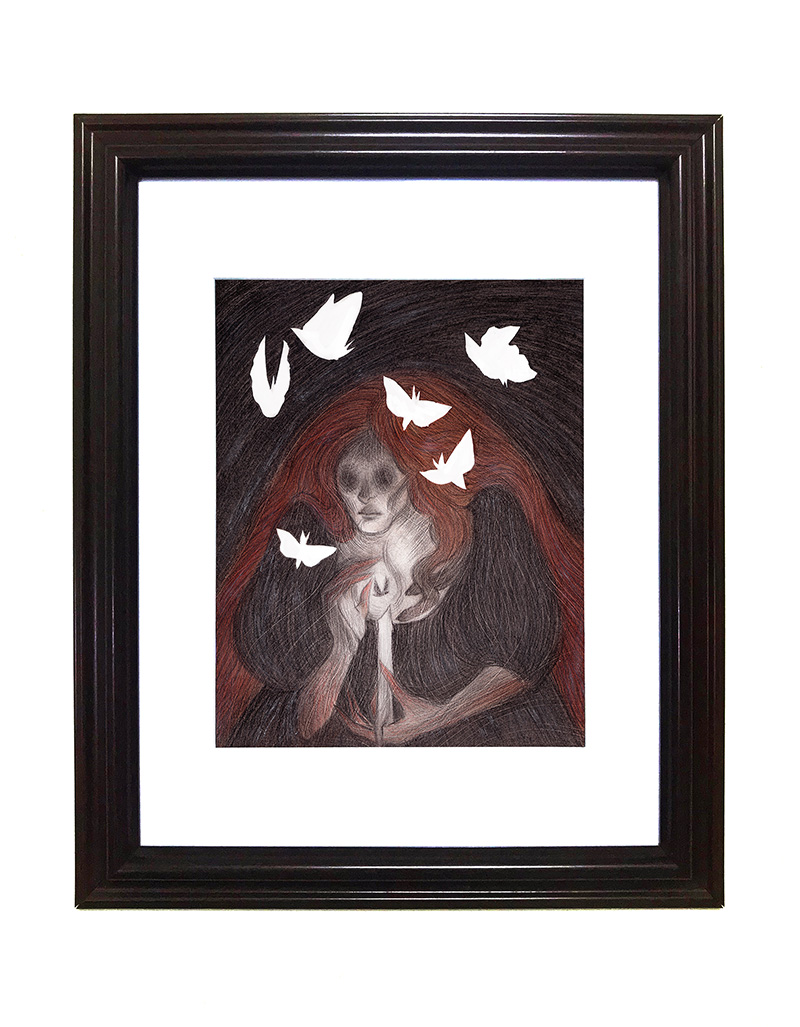 Kring Demetrio - Moth Mother (Framed)