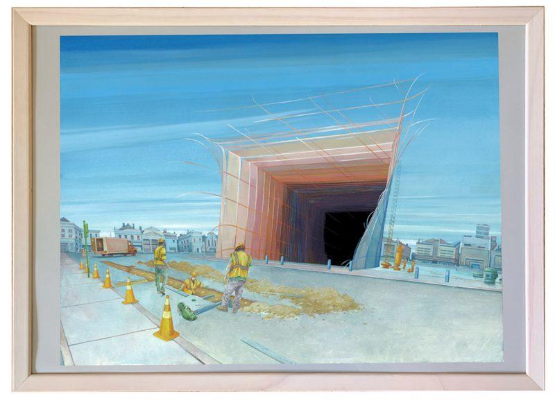 Michael Dandley - Brink (Framed)