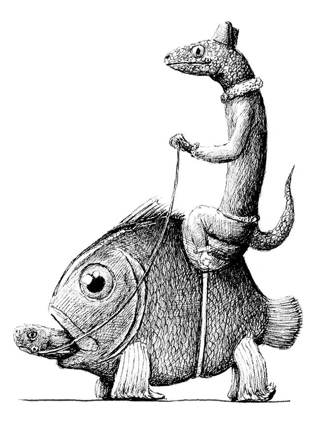 Redmer Hoekstra - Lizard on Fishturtle