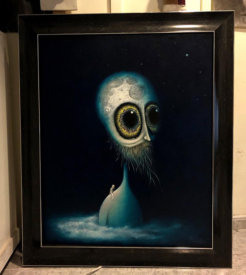 August Vilella - Moonhead (Framed)