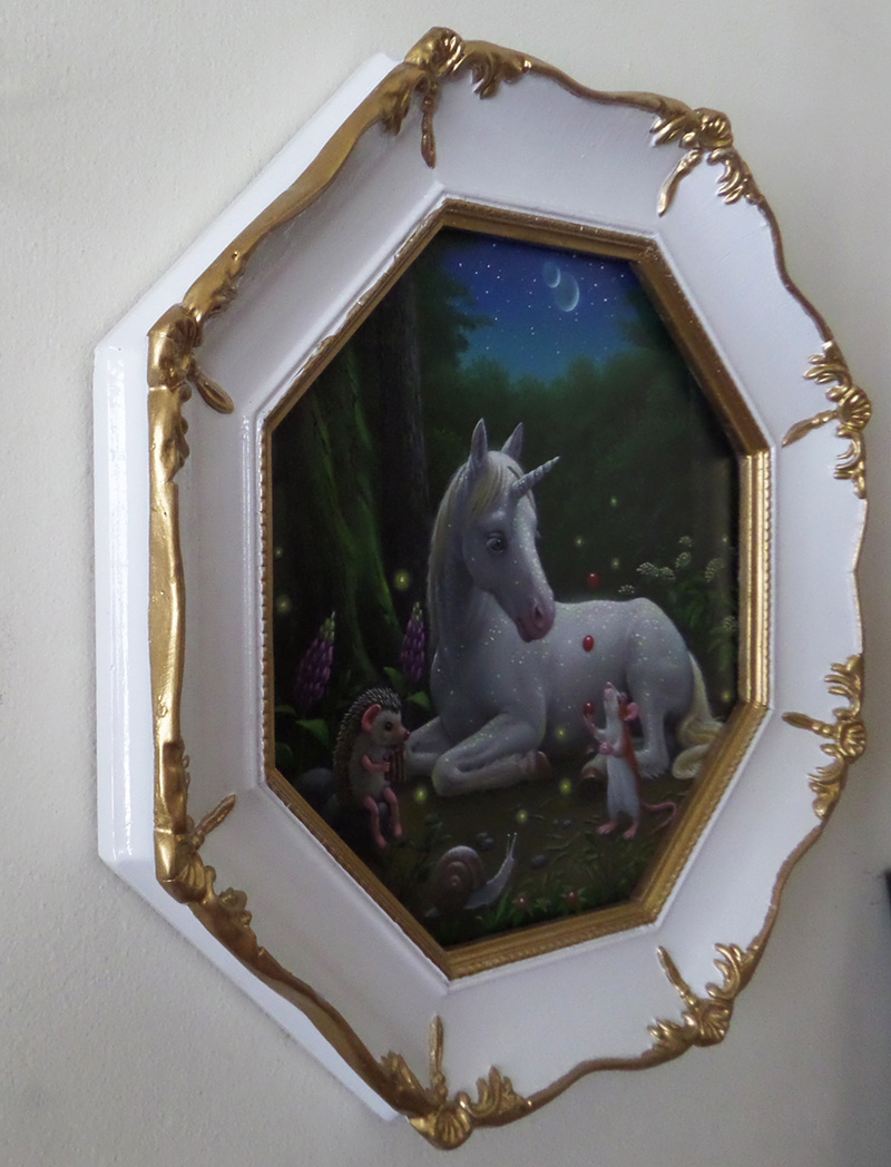 Olga Ponomarenko - Delightful Night (Framed - Side)