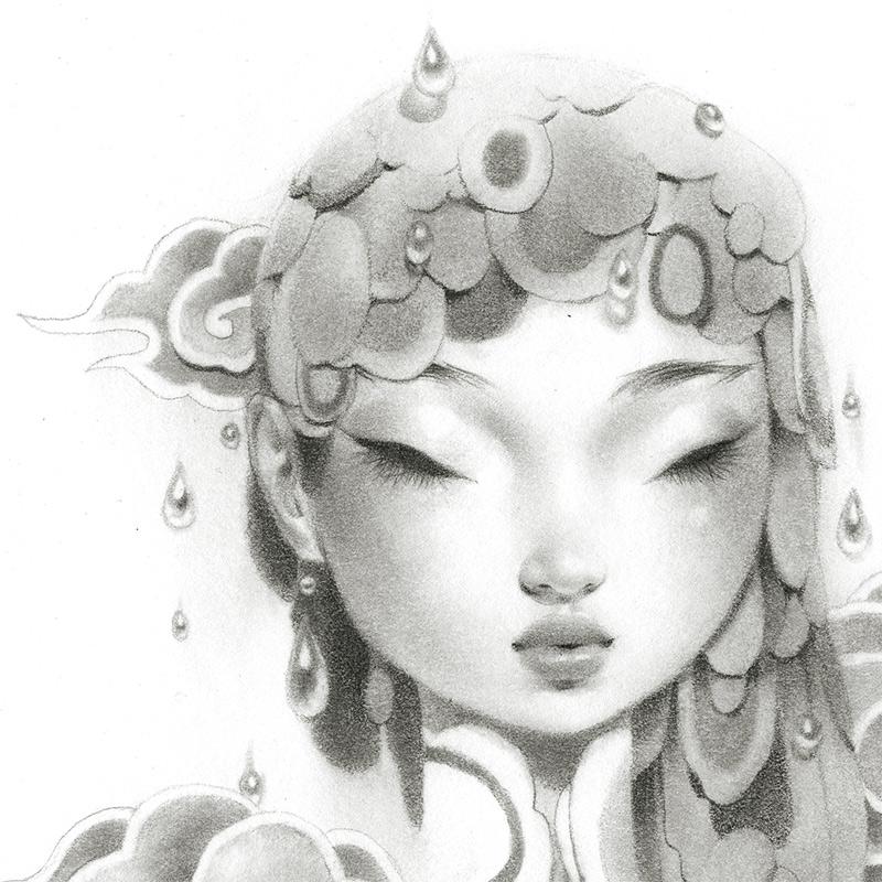 Bao Pham - Rain Goddess in Grey (Detail 1)