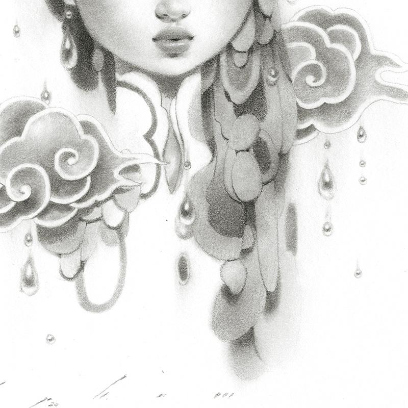 Bao Pham - Rain Goddess in Grey (Detail 2)
