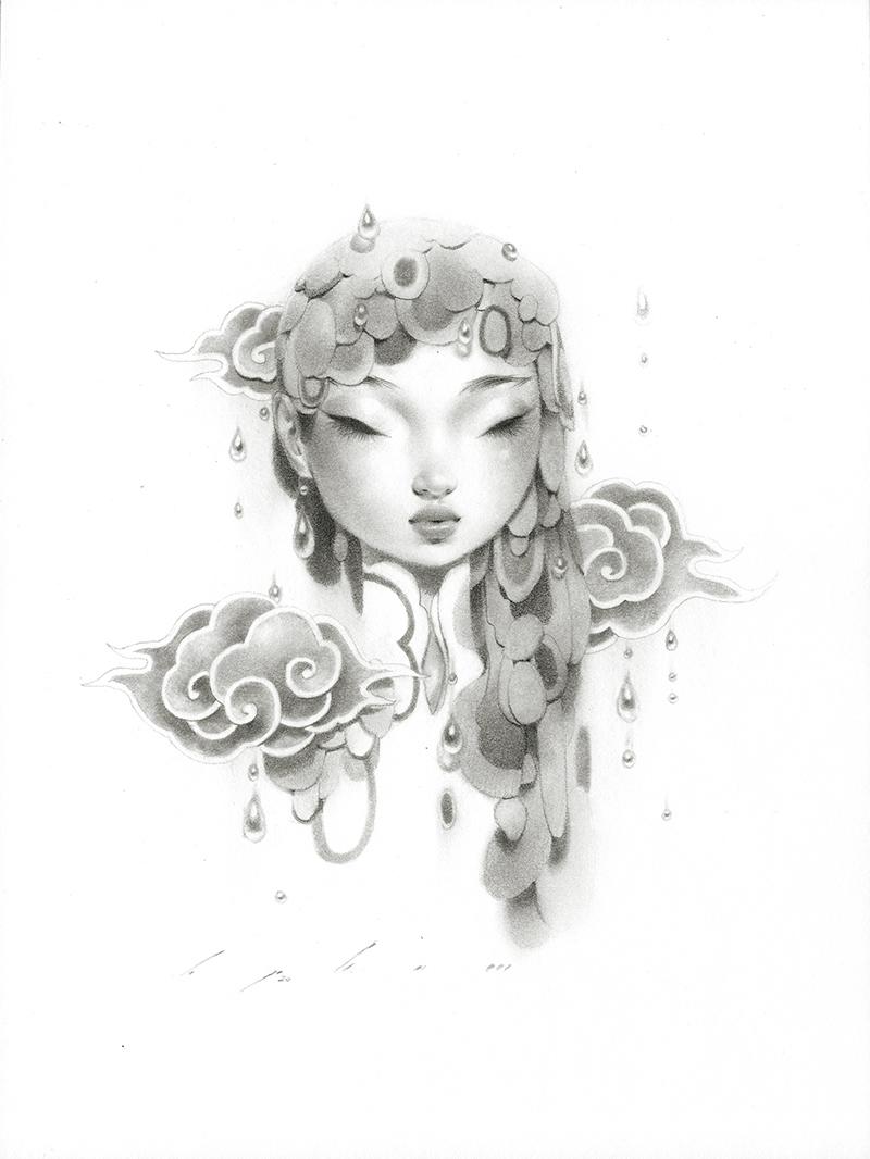 Bao Pham - Rain Goddess in Grey