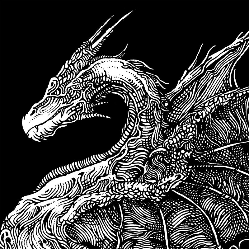 Ibayarifin - I Have Seen the Dragons on the Wind of Night (Detail 1)