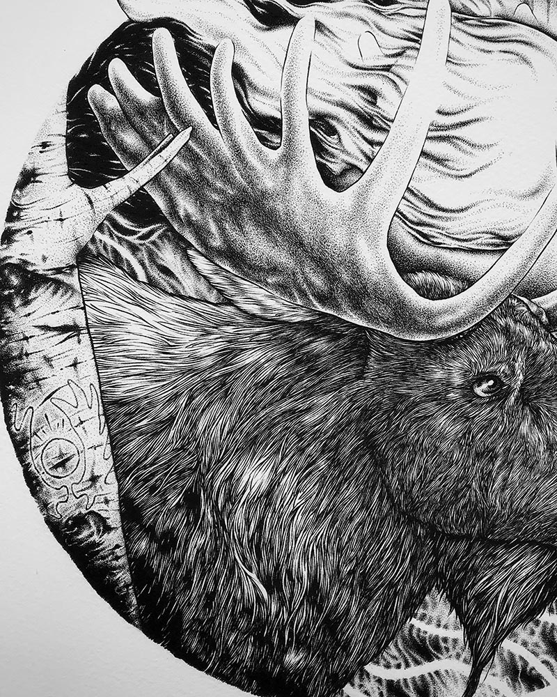 Jason Limberg - Spirit of the Forest (Detail 2)