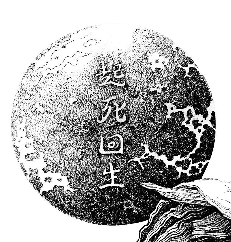Karl Trewhela - Kishi Kaisei - The Resurrection (Detail 1)