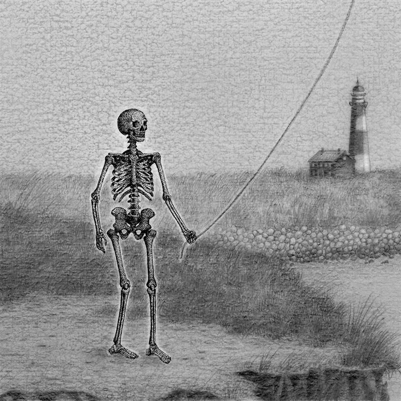 Juliet Schreckinger - Edgar's Evening Walks with His Ghostly Whale (Detail 2)
