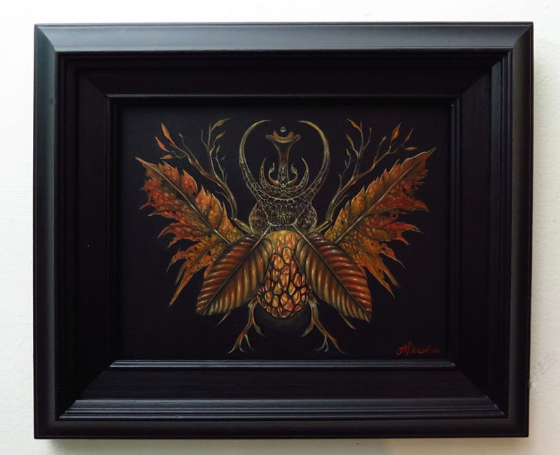 Molly Devlin - Fall Horned Beetle (Framed)