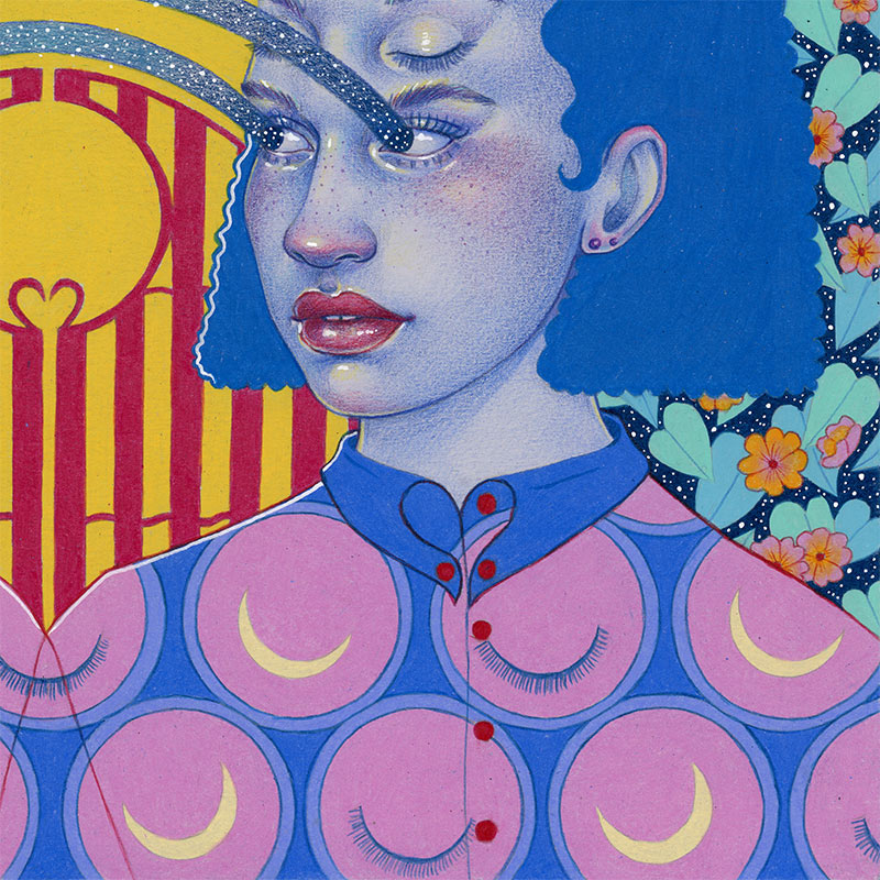 Natalie Foss - Twin Flames – The Entrance (Detail 2)