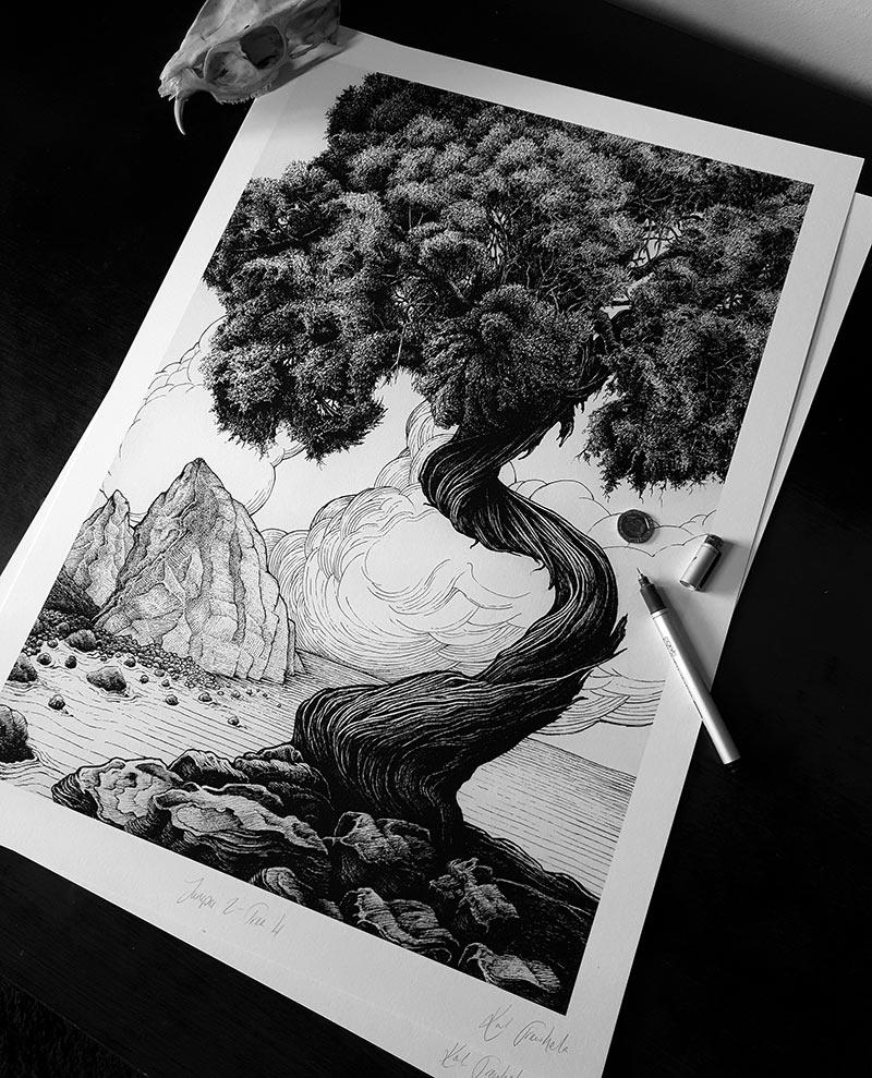 Karl Trewhela - Juniper 2 - Tree 4 (Scale)