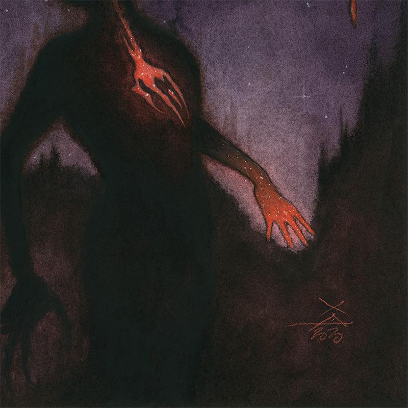 Xavier Ortiz - Dark Violet (Detail 2)