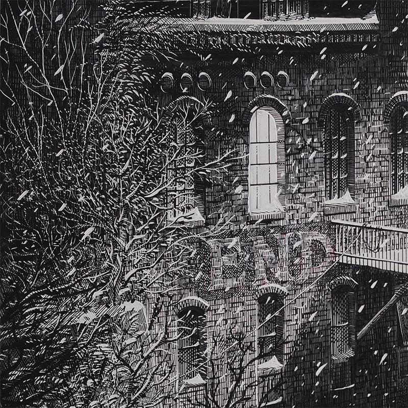 Calvin Laituri - January on Arch Street (Detail 1)