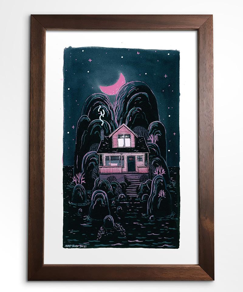 Matt Schu - Pink House (Framed - Front)