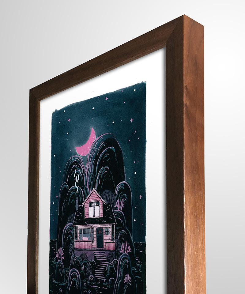 Matt Schu - Pink House (Framed - Side)