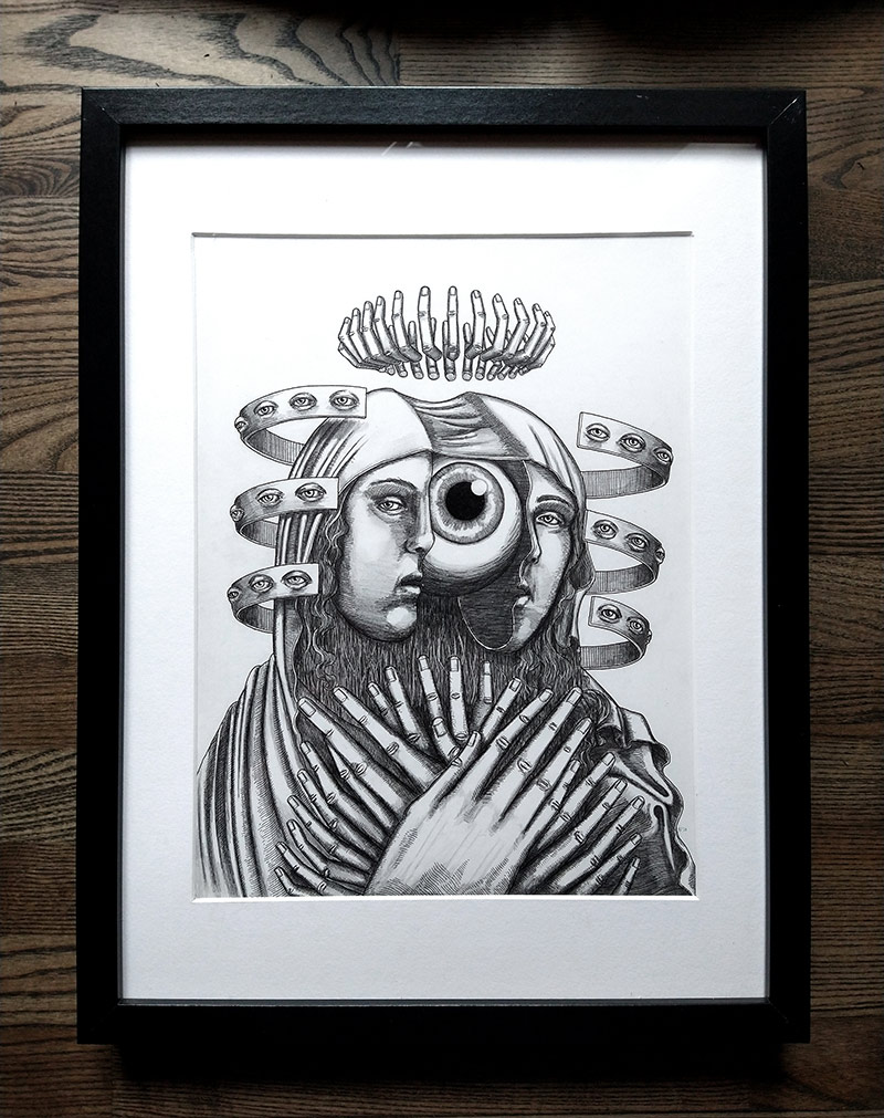Peter Striffolino - Our Lady of Perpetual Qualms (Framed)
