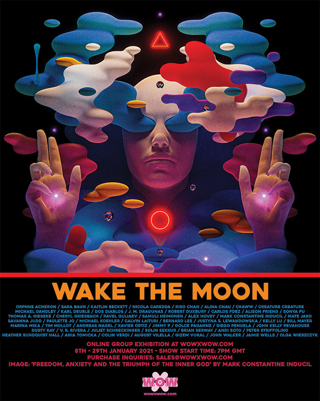 Wake the Moon - Flyer (Mark Constantine Inducil)