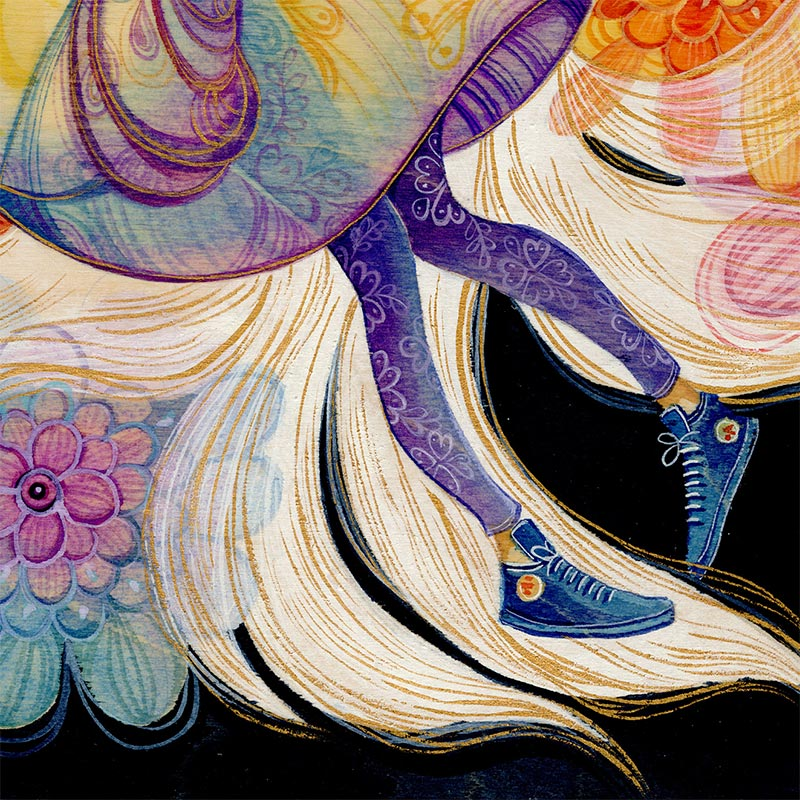 Alina Chau - Wolf Spirit (Detail 3)