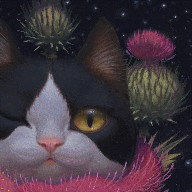 Kristin Kwan - Cheshire Cat Night (Detail 1)