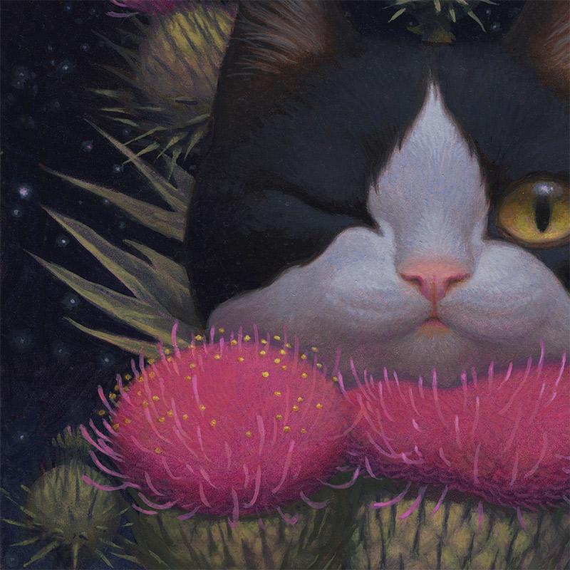 Kristin Kwan - Cheshire Cat Night (Detail 2)