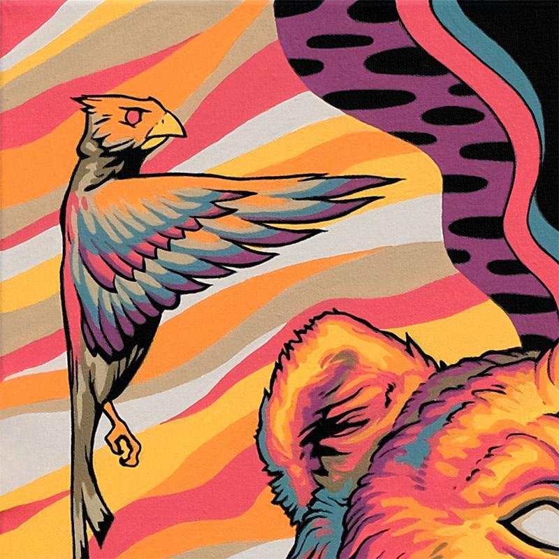 Travis Gillan - Beyond the Gate of Two Birds (Detail 1)
