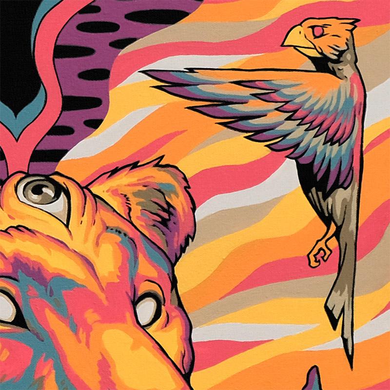 Travis Gillan - Beyond the Gate of Two Birds (Detail 3)