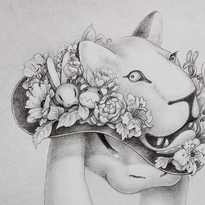 Alice Lin - Brave as a Lion (Detail 1)