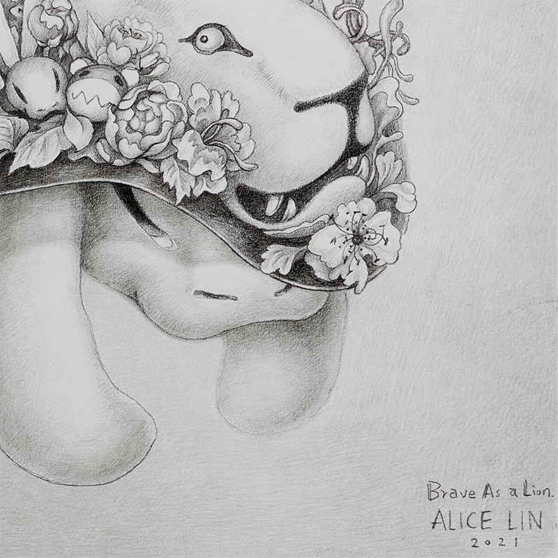 Alice Lin - Brave as a Lion (Detail 2)
