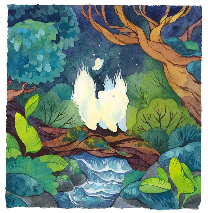 Cleonique Hilsaca - Forest Spirit (Border)