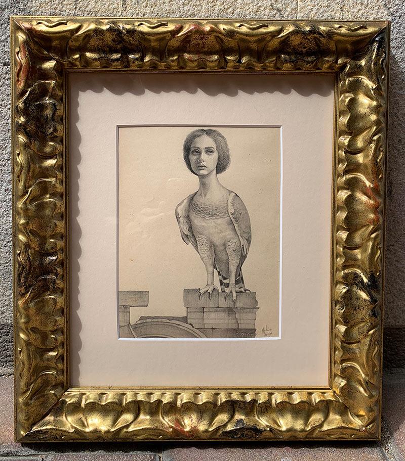 Martinez Canovas - Harpy (Framed)