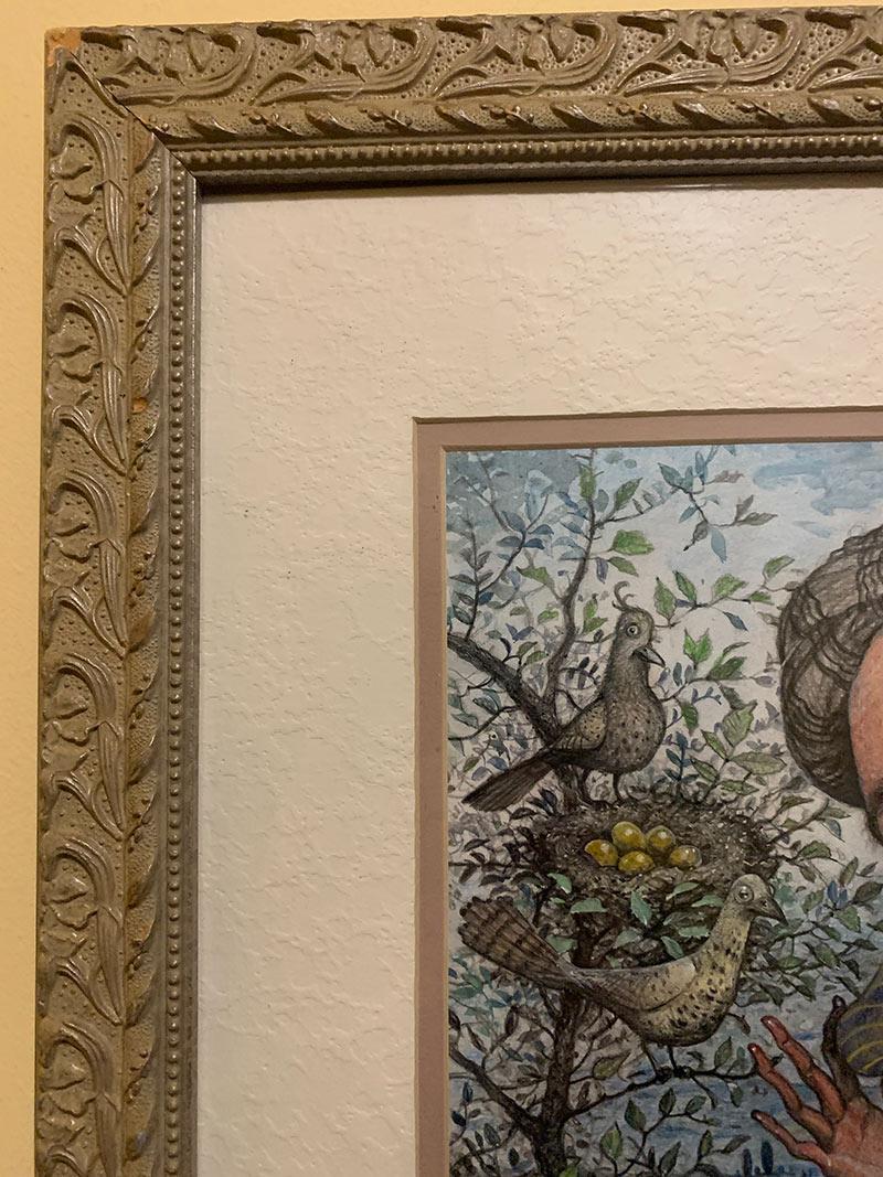 Scott G. Brooks - Two Birds Three Cups (Frame Detail)