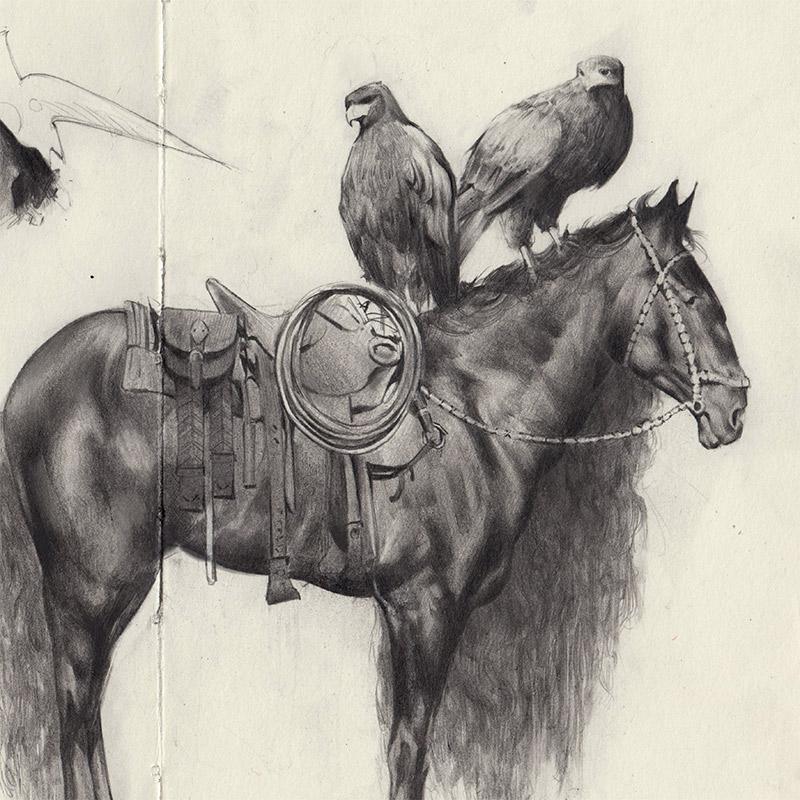 Jessica Taylor - Bird Seeker (Detail 1)