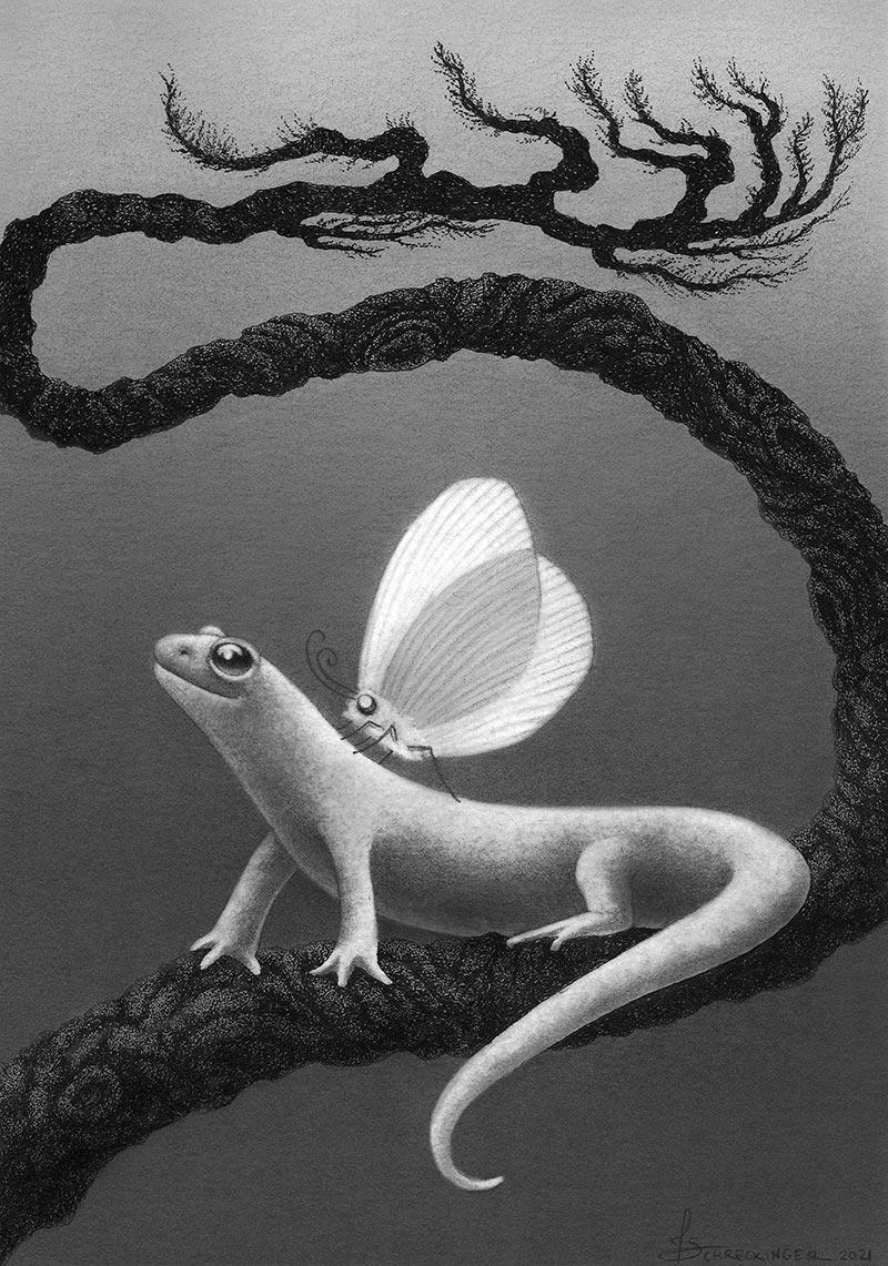 Juliet Schreckinger - Minky the Moth and her Salamander Salvato