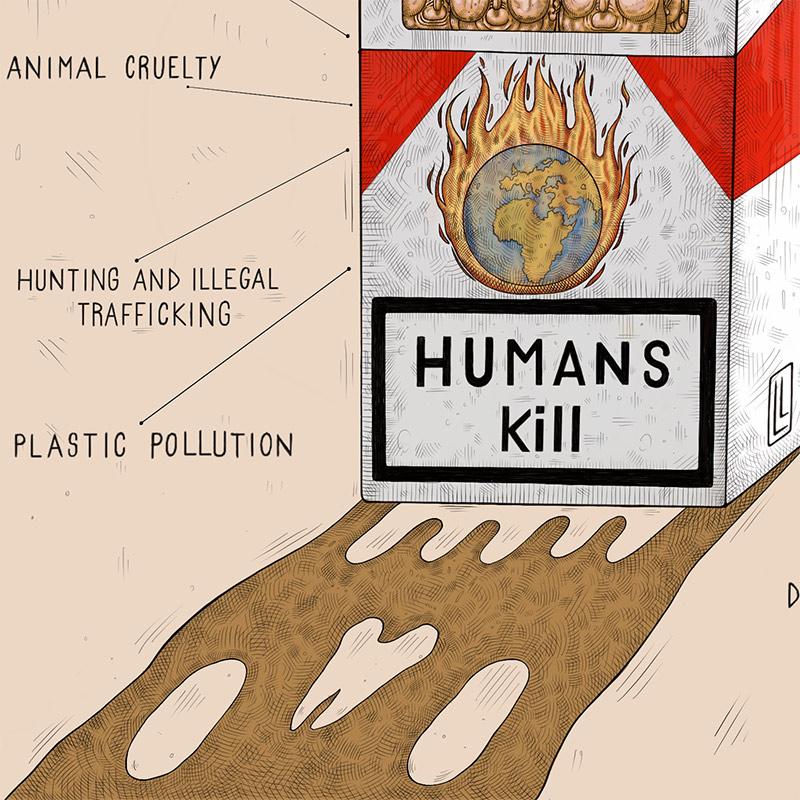 Luca Ledda - Humans Kill (Detail 2)