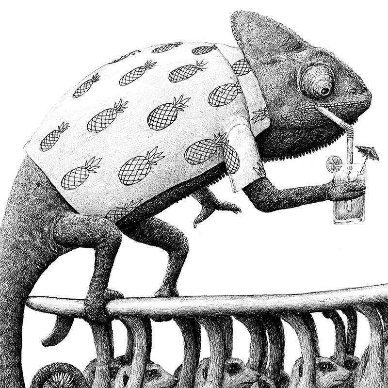 Redmer Hoekstra - Surfing Chameleon (Detail 1)