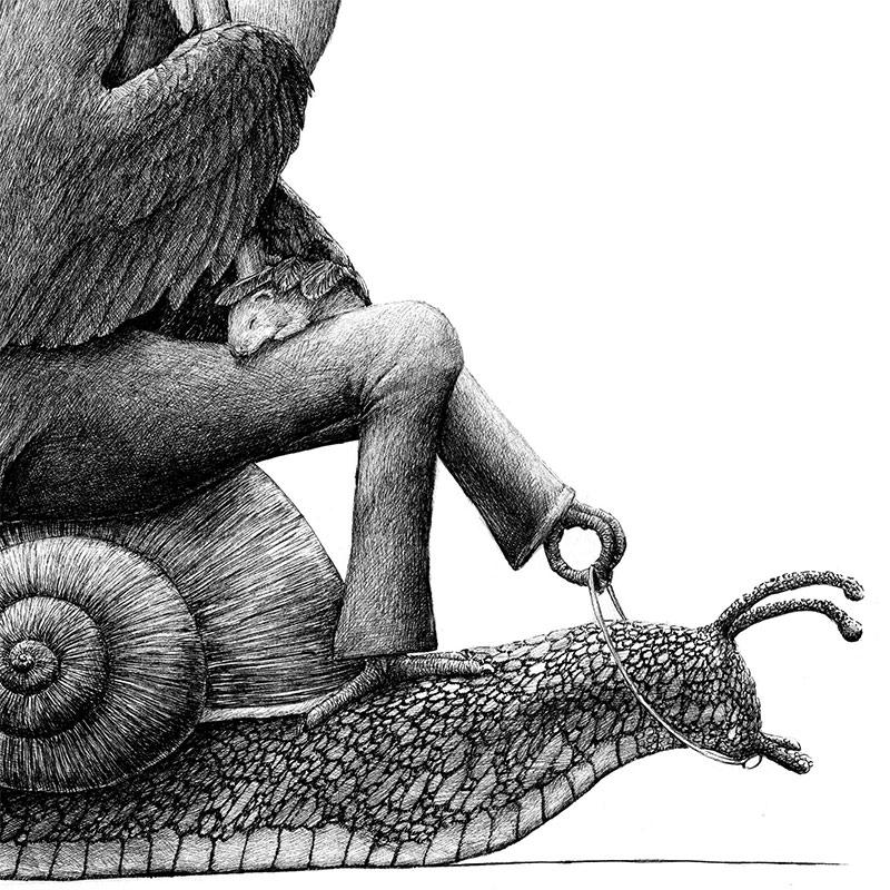 Redmer Hoekstra - Tucan on Snail (Detail 2)
