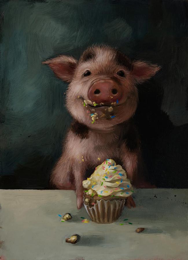 Alison Friend - Cupcake Piglet