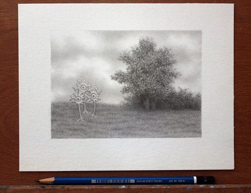 Catriona Secker - Landscape Study 2 (Desk)