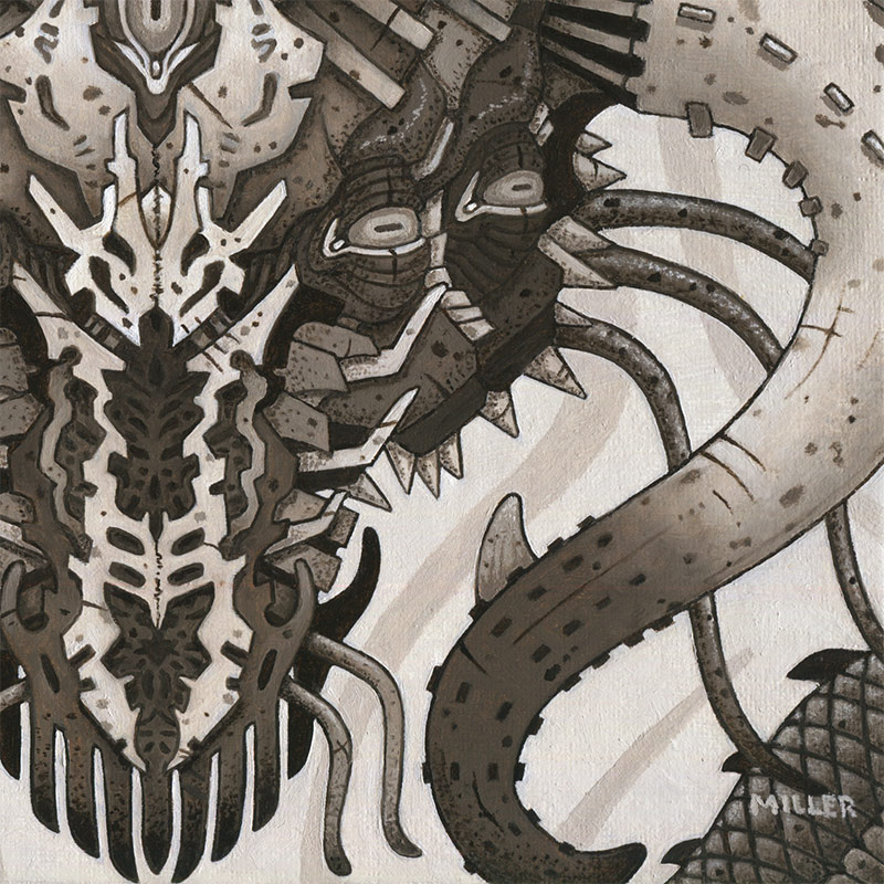 Michael R. Miller - Blight the Shadow Wyrm (Detail 2)