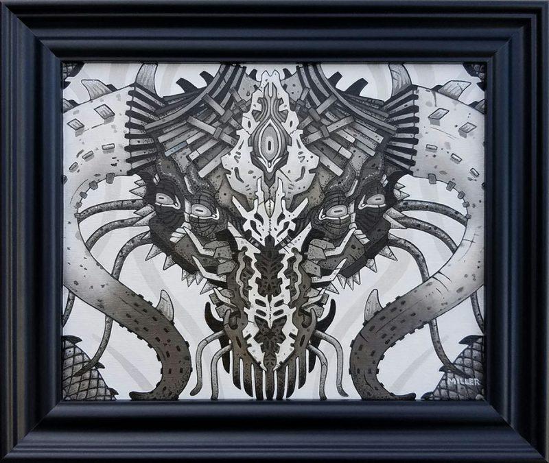 Michael R. Miller - Blight the Shadow Wyrm (Framed)