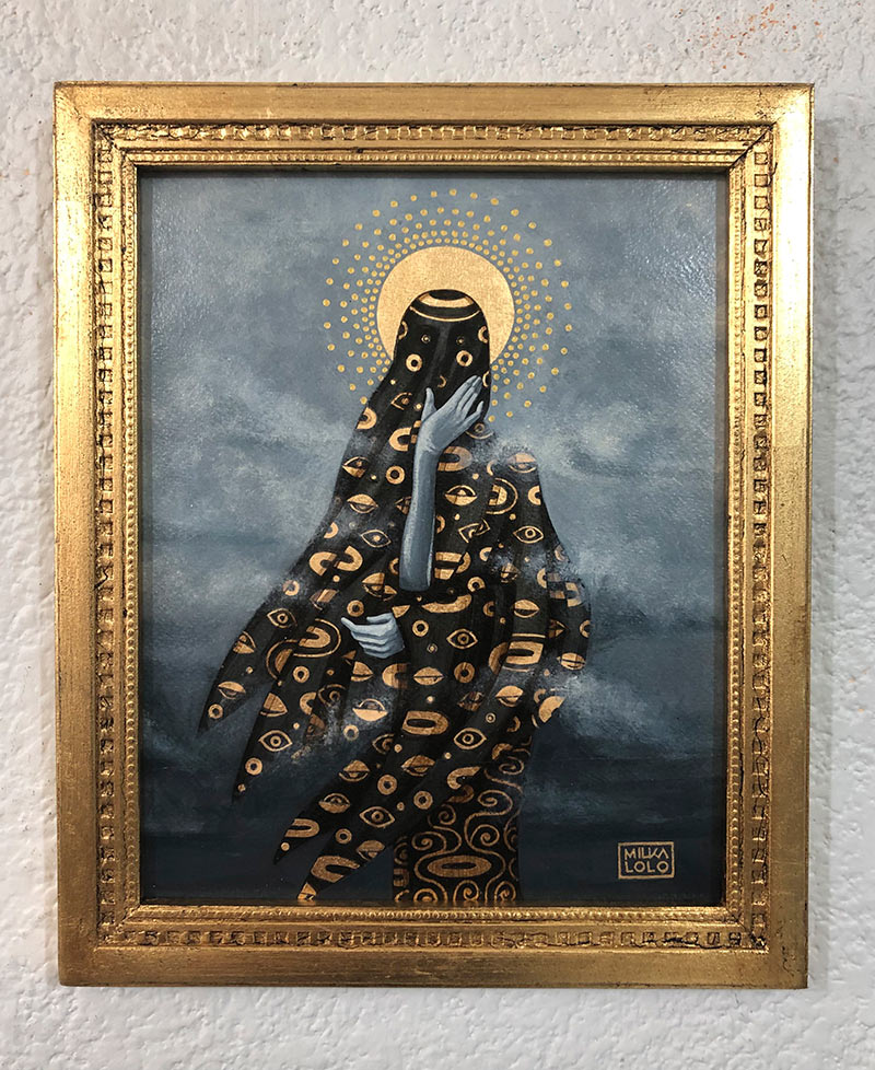 Milka Lolo - Anonymous God (Framed - Front)