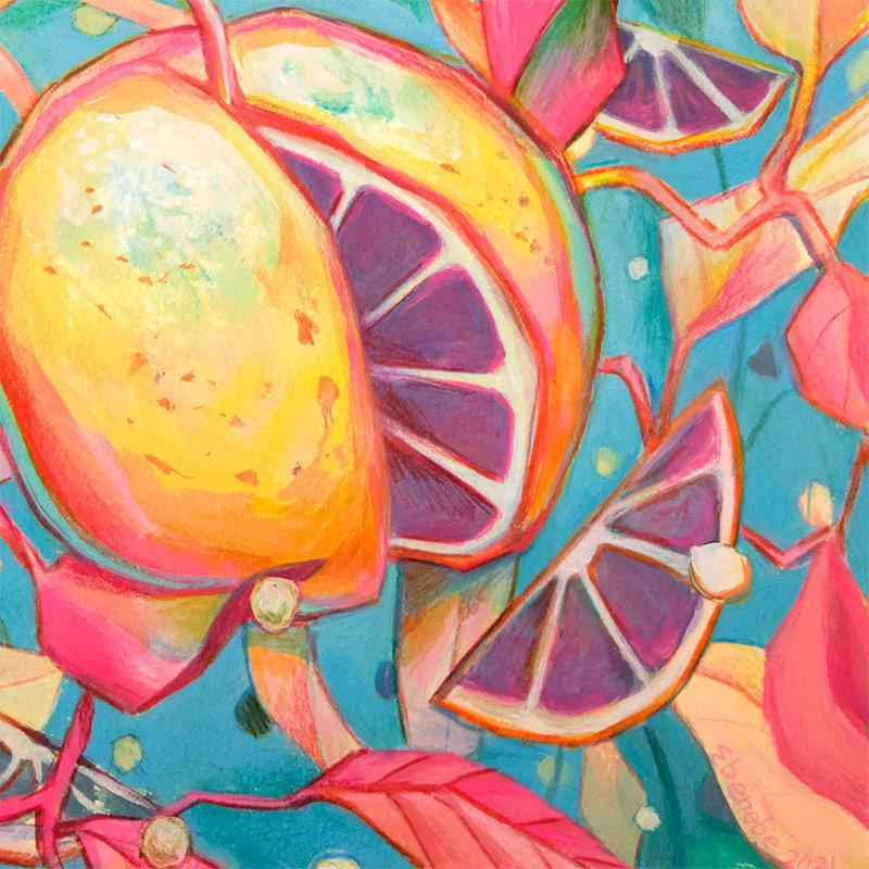 Ejiwa 'Edge' Ebenebe - Cosmic Citrus (Detail 2)