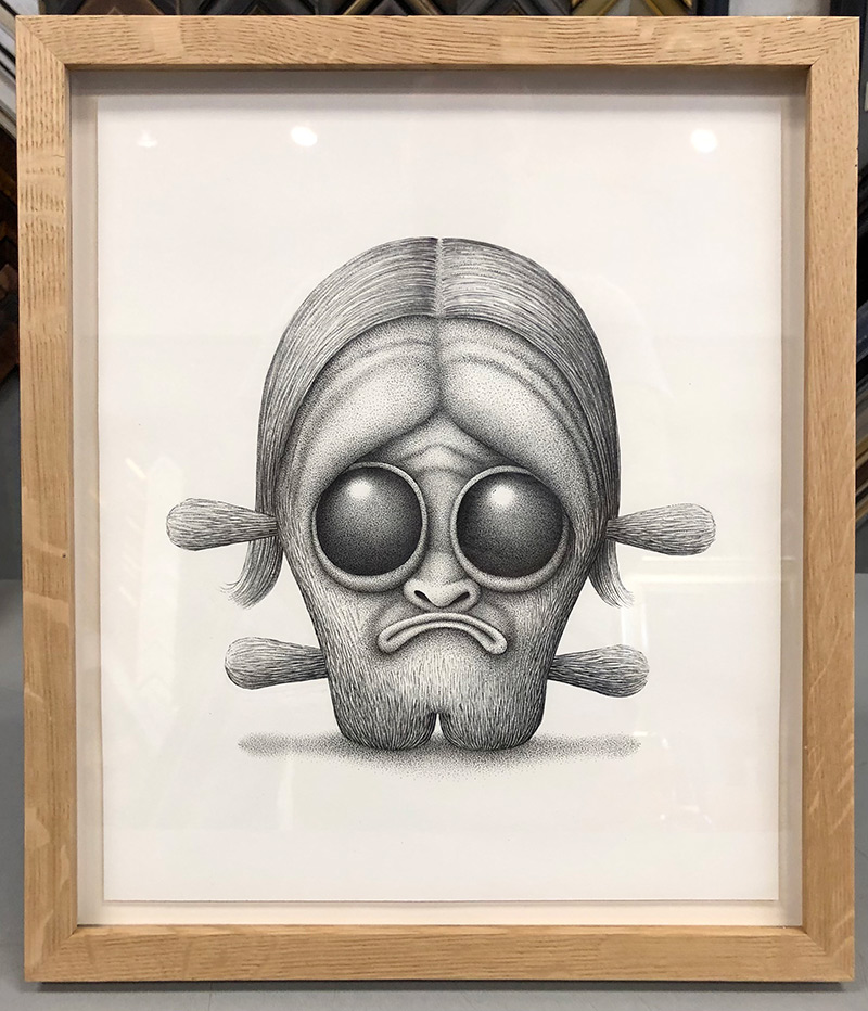 Aaron Robert Baker - Head 3 (Framed)