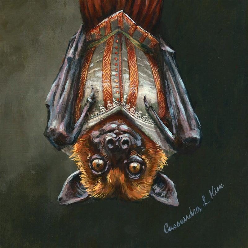 Cassandra Kim - Portrait of a Renaissance Bat (Detail 2)