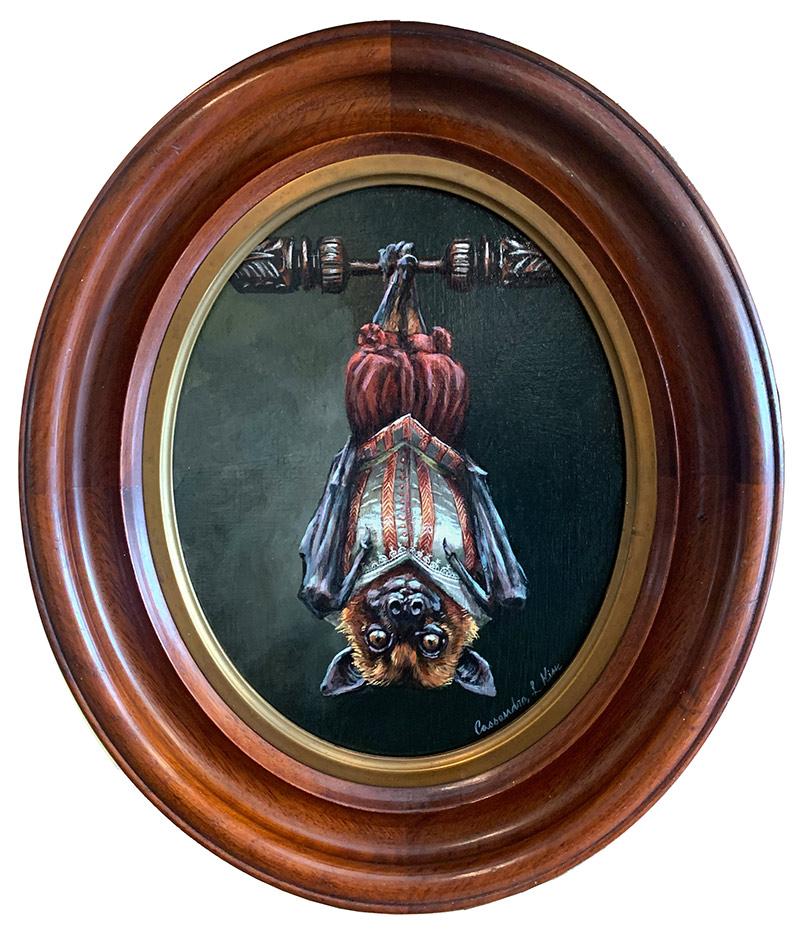 Cassandra Kim - Portrait of a Renaissance Bat (Framed - Front))