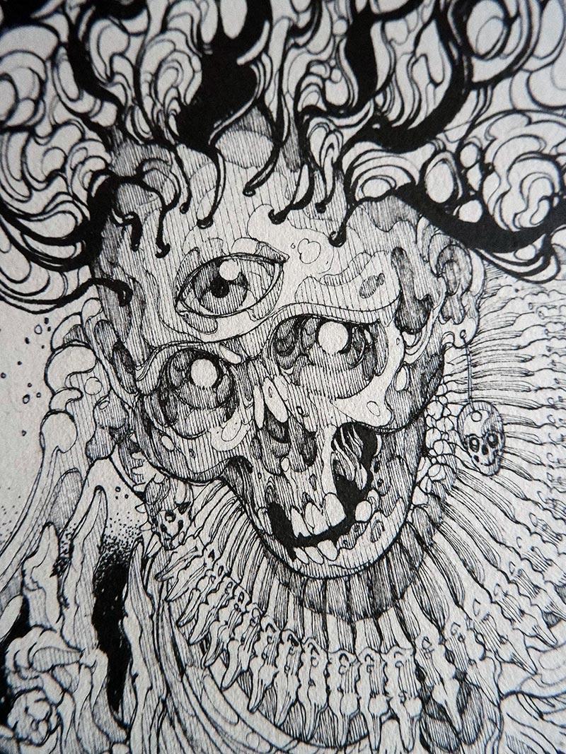 Diego Andrade - Mictlantecutli (Detail 1)