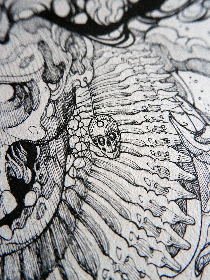 Diego Andrade - Mictlantecutli (Detail 2)