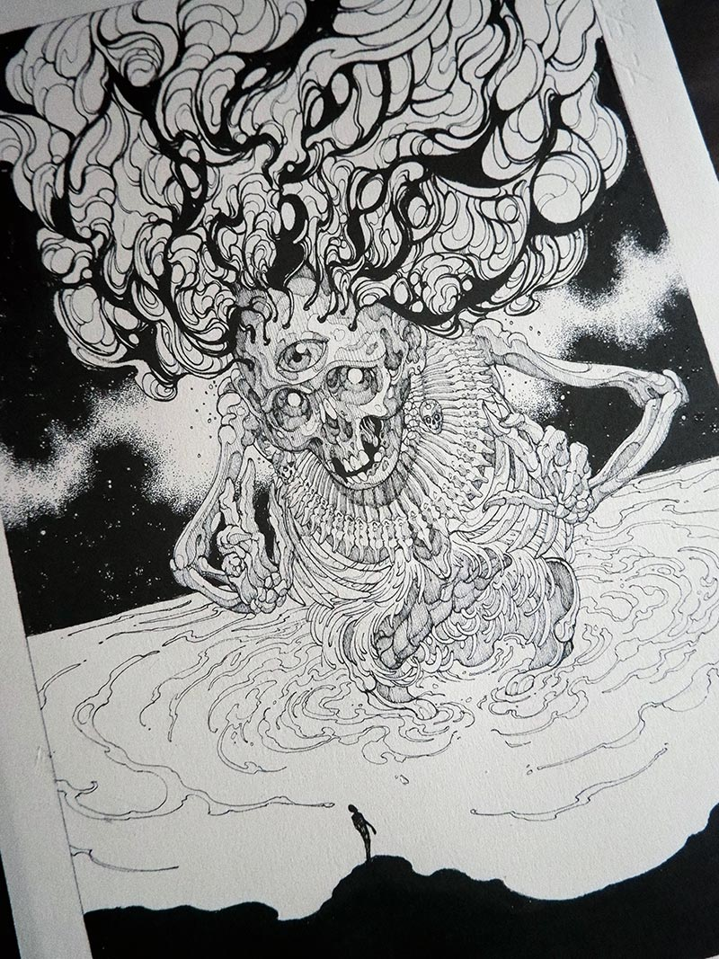 Diego Andrade - Mictlantecutli (Detail 4)