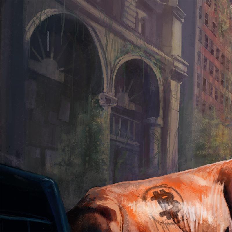 Christophe Siel - Golden Calf (Detail 1)